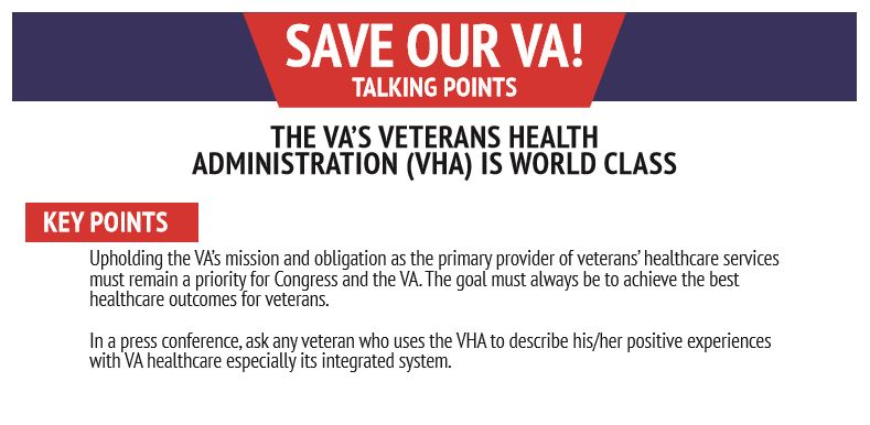 Talking Points: VA Healthcare