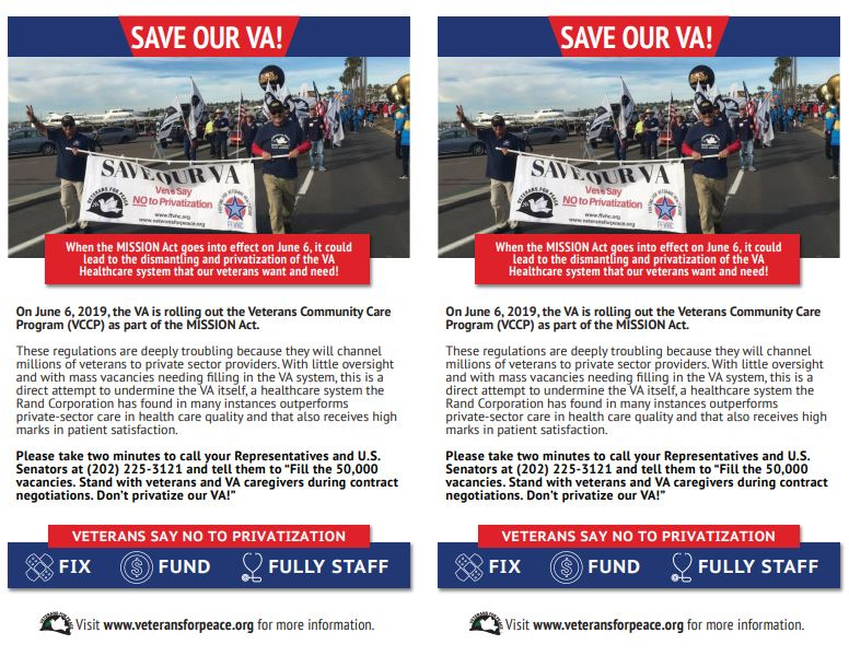 Take Action to #SaveOurVA | Veterans For Peace