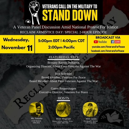 Image of Flyer for Stand Down Live
