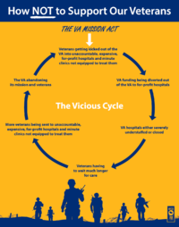 Illustrates the cycle that the Mission Act will have on veterans